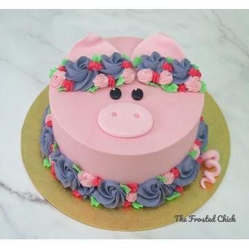 Floral Piggy Cake