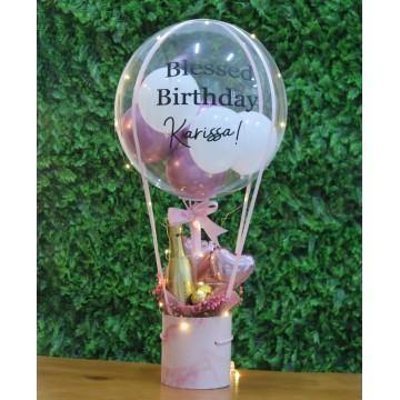 Pretty in Pink Hot Air Balloon Box