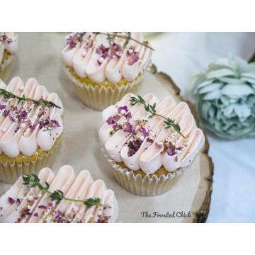 Rustic Rose Pink Cupcakes