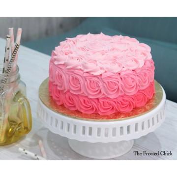Ombre rosette (Fresh cream cake)