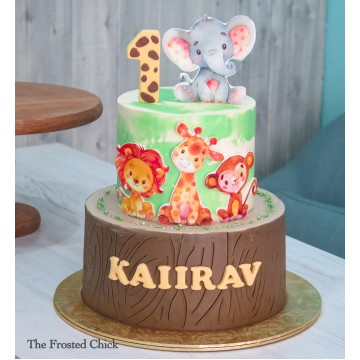 2-tiered Safari Cake
