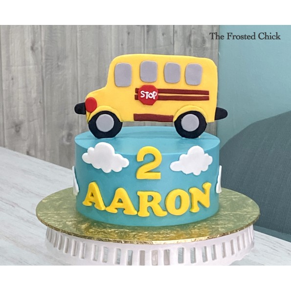 Wondrous School Bus Cake Personalised Birthday Cards Cominlily Jamesorg