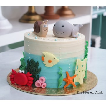Snail and the Whale Underwater cake