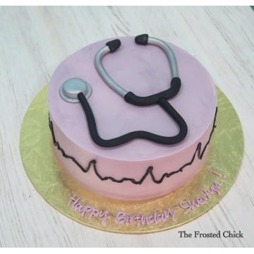 Doctor Stethoscope Cake