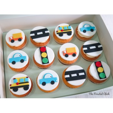 Transport Themed Cupcakes