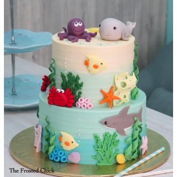 Underwater Sea Creatures Cake