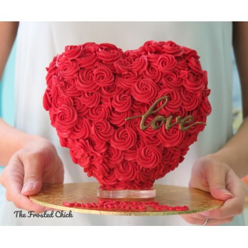 3D Heart Cake (Gravity Defying)