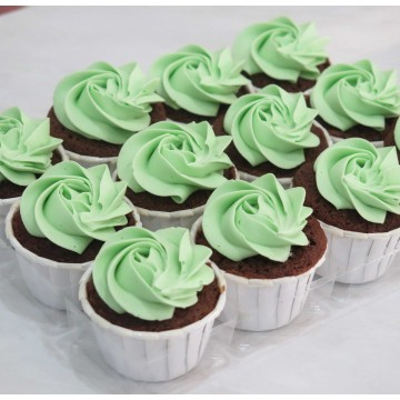 Mint Chocolate Mini Cupcake (Per Dozen)
