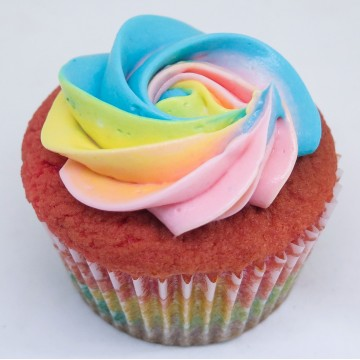 Over The Rainbow Cupcake