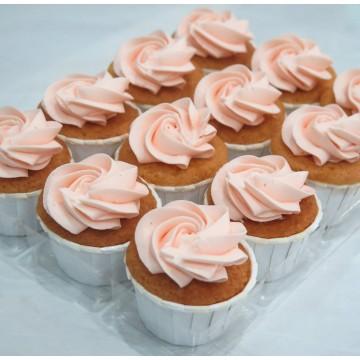 Vanilla Lychee Mini Cupcake (Per Dozen)