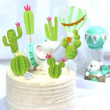 Cactus Cake Topper Set