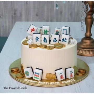 Minimalistic Mahjong Cake