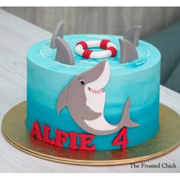 Shark Attack Cake